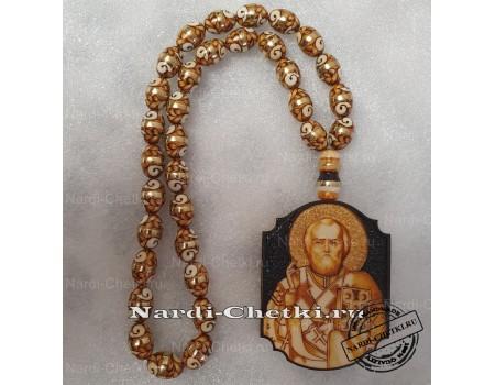 """Купить православные четки """"Николай Чудотворец"""" с молитвой"""