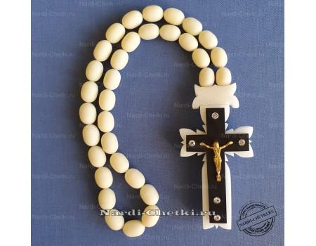 """Купить православные четки """"Крест-1"""" из бильярдного шара"""