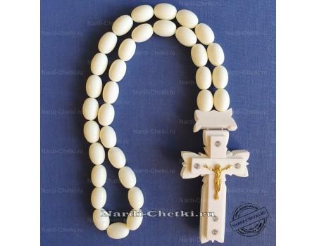 """Купить православные четки """"Крест-4"""" из кости"""