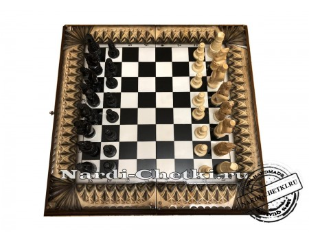 """Купить набор нарды шахматы шашки """"Трио"""""""