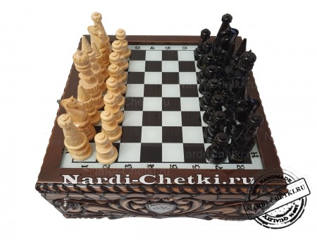 """Купить резные шахматы """"Гербовые"""""""
